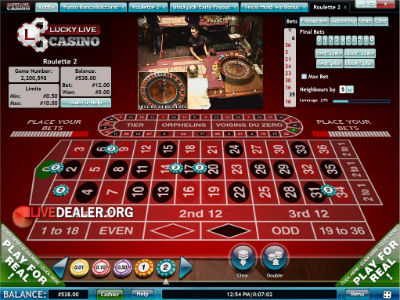 Lucky Live roulette