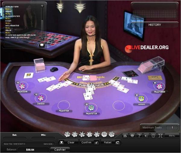 Live dealer blackjack card counting software