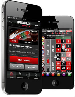 Super Casino Casino iPad/Android tablet roulette