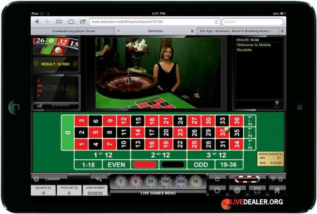 online live roulette ipad