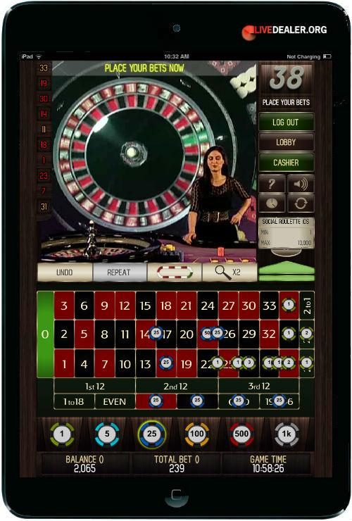 Smart Live Casino iPad roulette