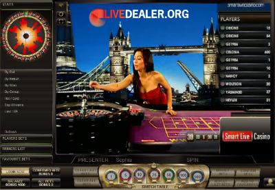 Smart Live Casino live roulette