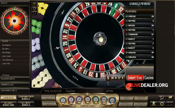 roulette spins live