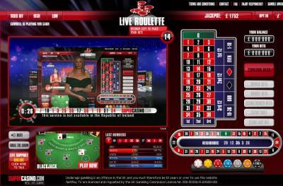 Live Roulette At Super Casino