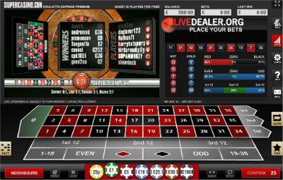 Super Casino Roulette Express Premium