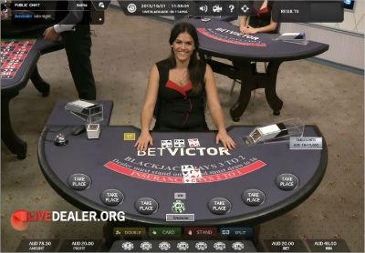 Victor's LIve Casino blackjack