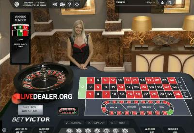 Victor's Live Casino roulette